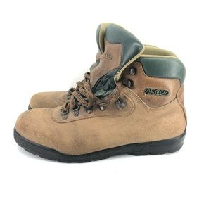 B22) Asolo Hiking Boots Mens Size 13 Leather Brown